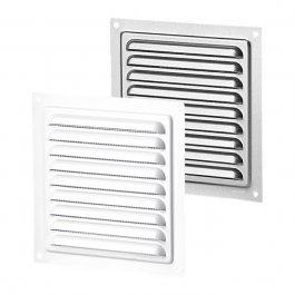 Metalen ventilatierooster met insectengaas (MVM-serie)