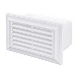 PVC-ventilatierooster platte buis + insectengaas