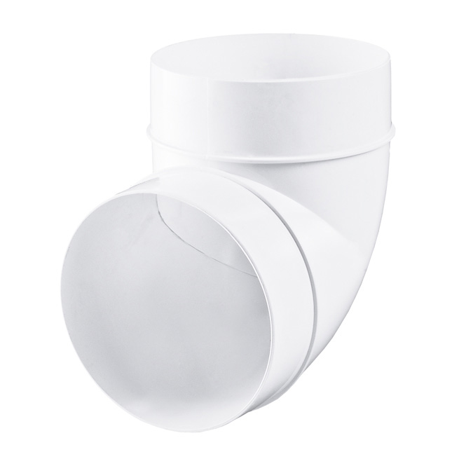 PVC-bocht 90° rond
