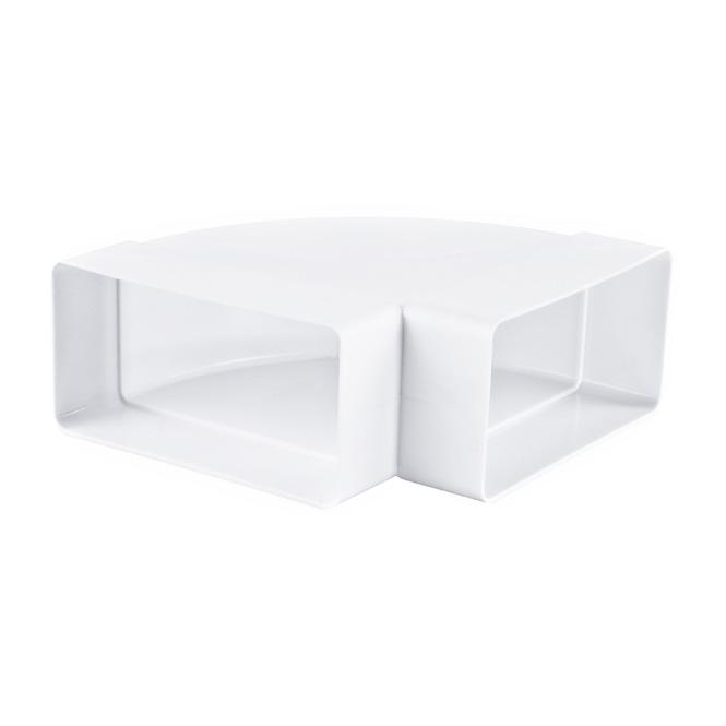 PVC-horizontaal bochtstuk 90°platte buis