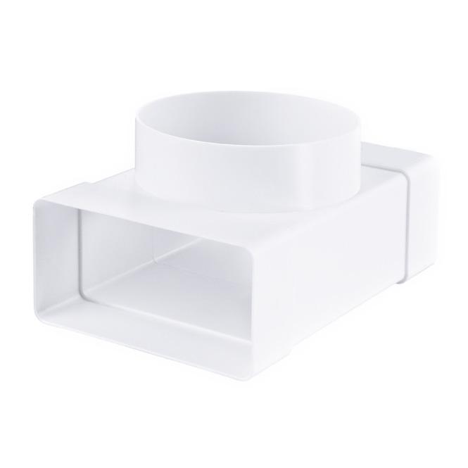 PVC T-stuk platte-ronde buis