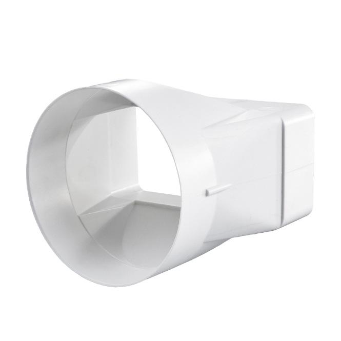PVC-verloopstuk platte-ronde buis