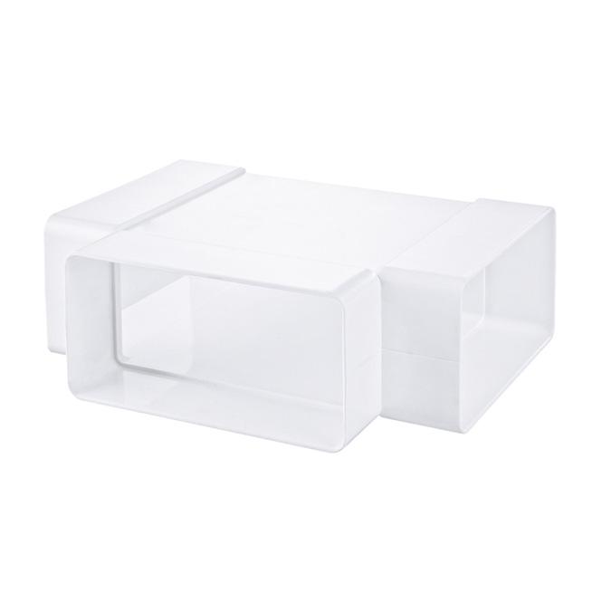 PVC T-stuk platte buis