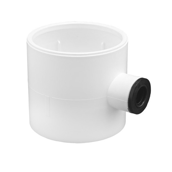 Condensafvoer rond PVC-buis