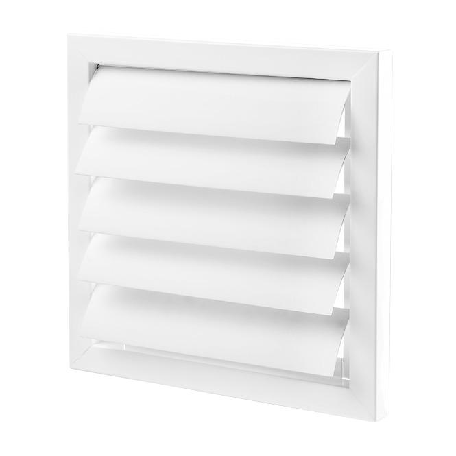Metalen ventilatierooster met PVC-lamellen (GRM-serie)